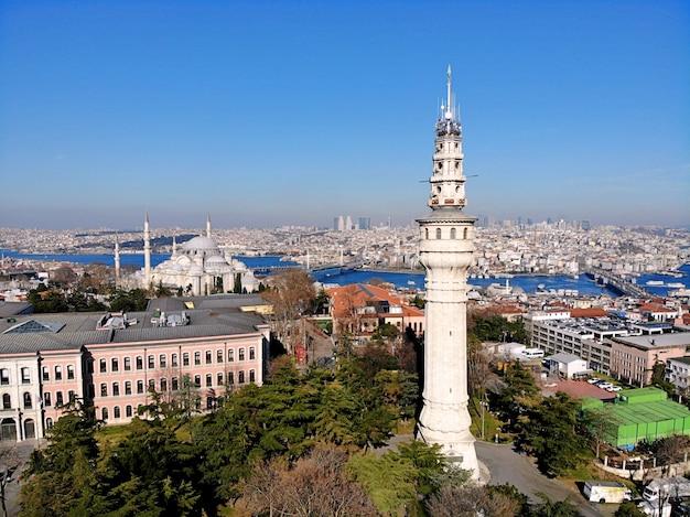 Landschaft der stadt istanbul in der türkei