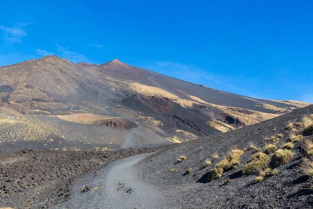Landschaft des ätna-vulkans