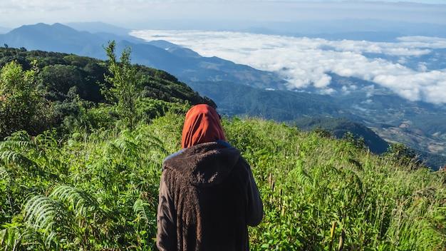Landschaft des berges doi inthanon am nationalpark, thailand