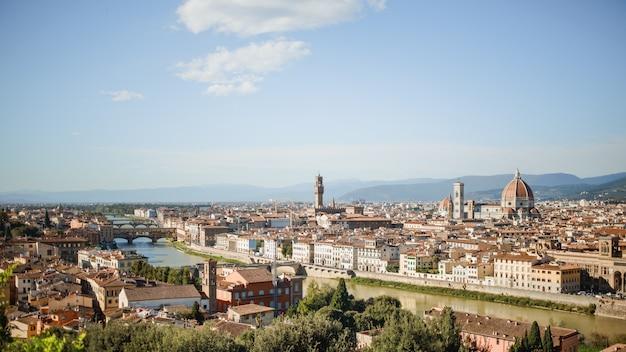 Landschaft des florenz, italien
