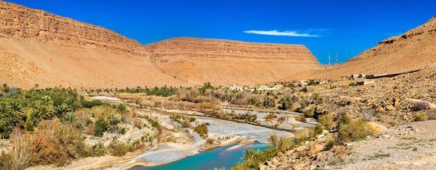 Landschaft des ziz-tals in marokko, nordafrika