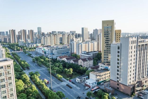 Landschaft einer modernen stadt