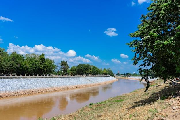 Landschaft flüsse und kanäle und bäume für die reise