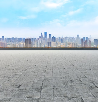 Landschaft gebäude futuristische skyline büro orientalischen