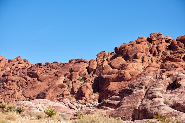 Landschaft in red rock canyon, nevada, usa