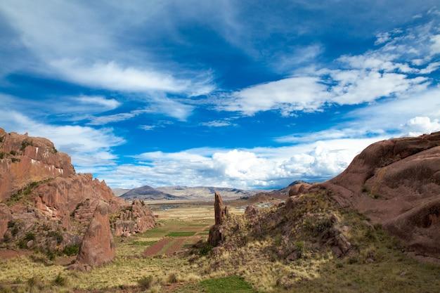 Landschaft von arequipa in peru