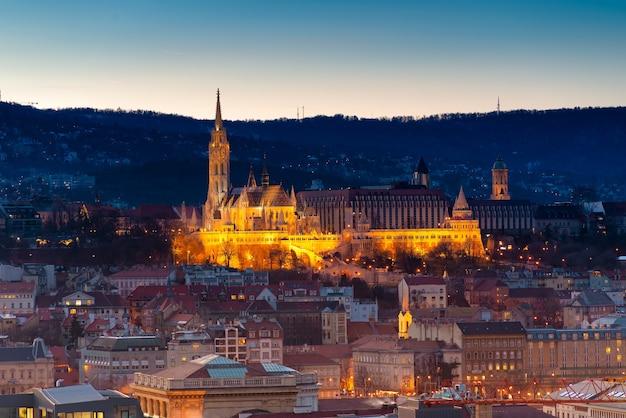 Landschaft von budapest bei nacht