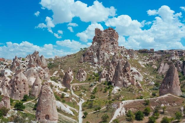 Landschaft von kappadokien bergen