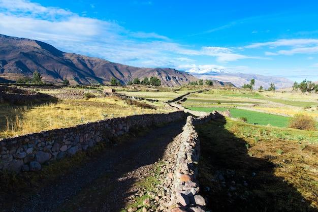 Landschaft von peru