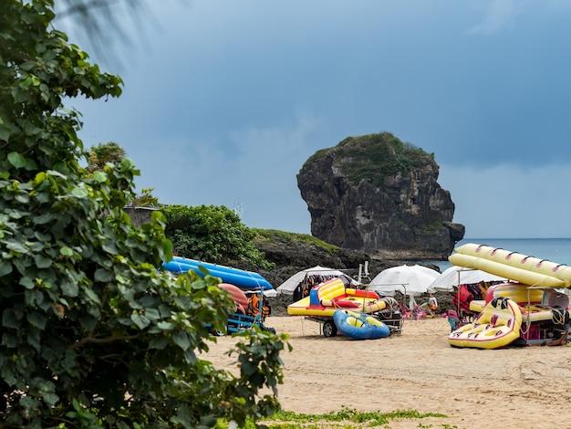 Landschaft von xiaowan beach in kenting, taiwan
