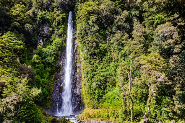 Landschaften der südinsel kleiner hochwasserfall neuseeland