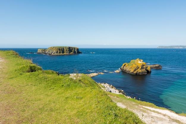 Landschaften irlands. carrick-a-rede, nordirland
