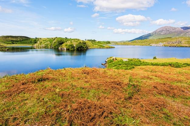 Landschaften von irland. connemara in der grafschaft galway