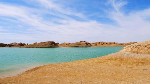 Landschaftsansicht des geologischen parks dachaidan wusute water yadan in qinghai china