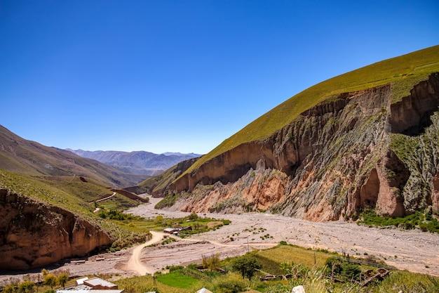 Landschaftsansicht von iruya, argentinien
