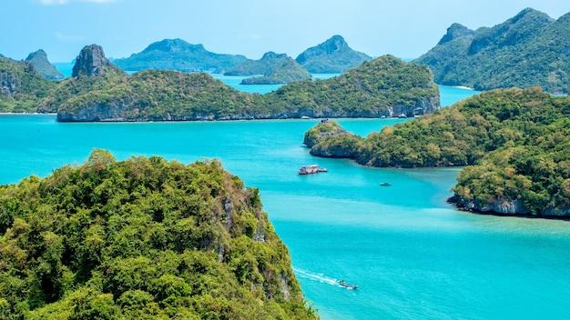 Landschaftsbild von mu koh angthong, insel samui, surat thani, thailand