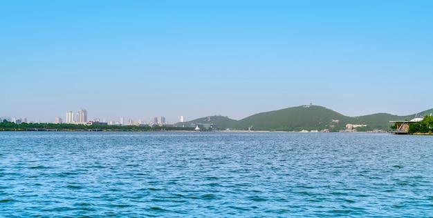 Landschaftslandschaft von yulong see in xuzhou