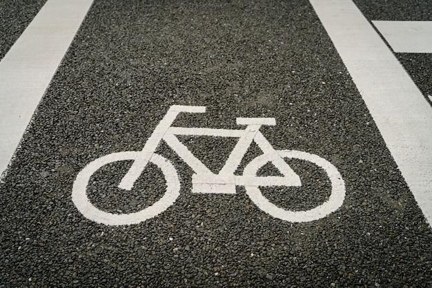 Lane für fahrrad auf der straße