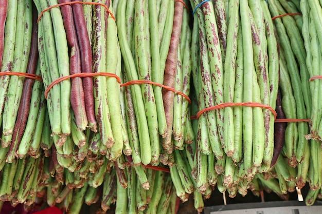 Lange bohnen am markt