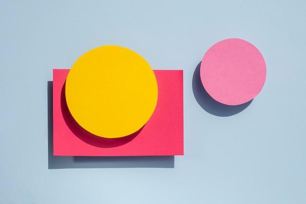 Lange sicht des abstrakten kreispapierdesigns
