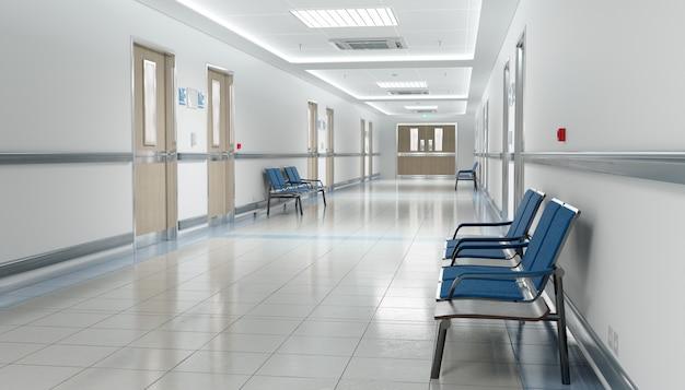 Langer krankenhauskorridor