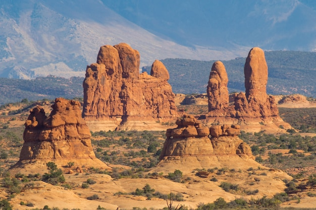 Lanscape the arches national park in utah, vereinigte staaten.