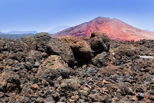 Lanzarote montana bermeja roter berg