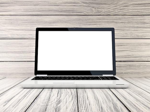Laptop auf holz