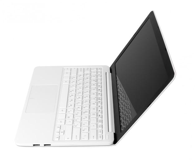 Laptop, isoliert auf weiss
