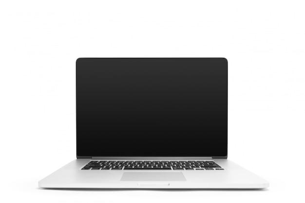Laptop isoliert auf weißem hintergrund