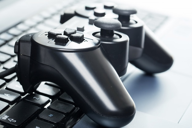 Laptop mit joystick