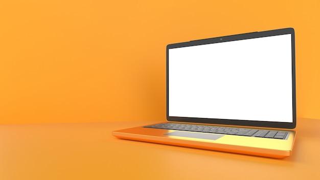 Laptop mit leerem bildschirm.