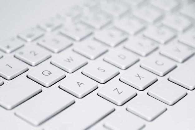 Laptop-tastatur-computertechnologie, geschäfts- oder bildungskonzept. computertastatur-nahaufnahme mit kopienraum