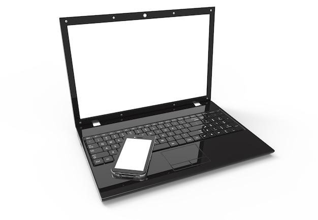 Laptop und smartphone
