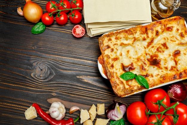 Lasagne in auflaufform