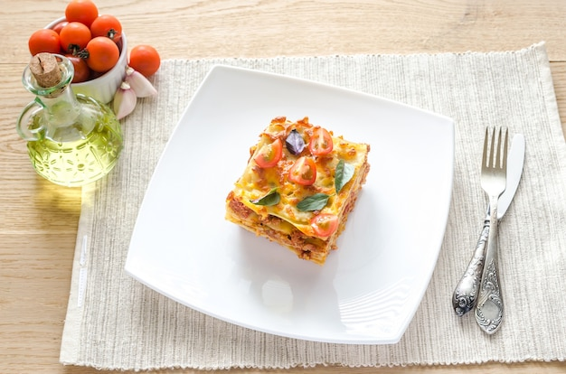 Lasagne mit kirschtomaten