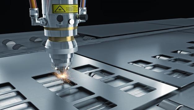Laser geschnittene maschine