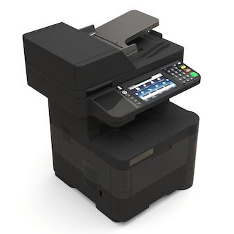 Laserdrucker auf dem weißen hintergrund. 3d-illustration.