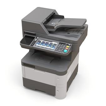 Laserdrucker auf der weißen fläche