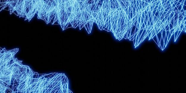 Laserlicht abstrakter neonlichthintergrund 3d-darstellung