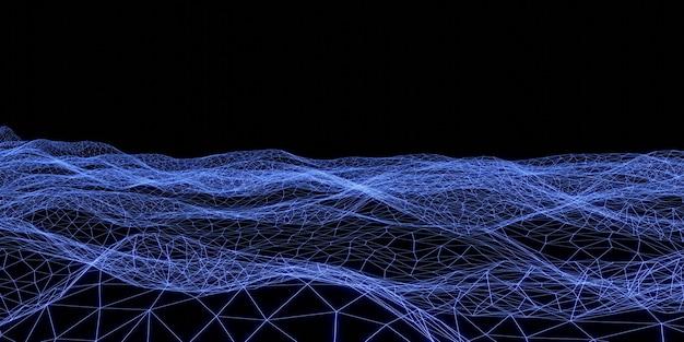 Laserlicht mesh neonlicht textur hintergrund 3d-darstellung