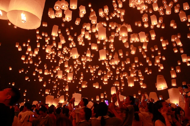 Laternenfest in thailand
