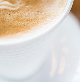 Latte kaffee hautnah