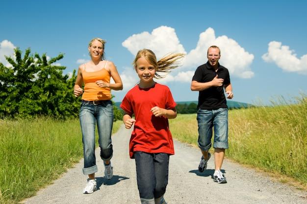Laufen mit der familie