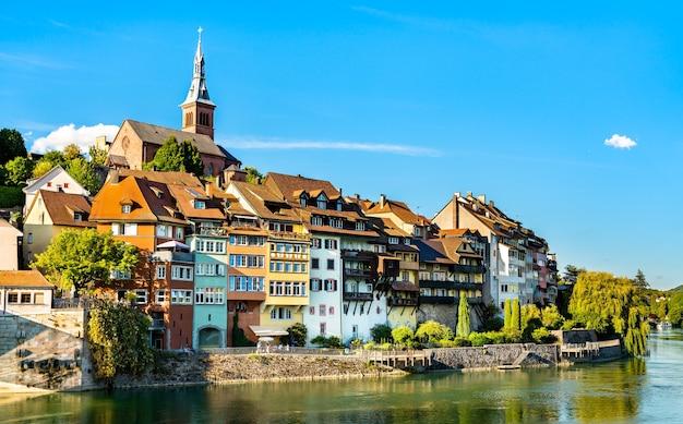 Laufenburg, eine grenzstadt am rhein in deutschland
