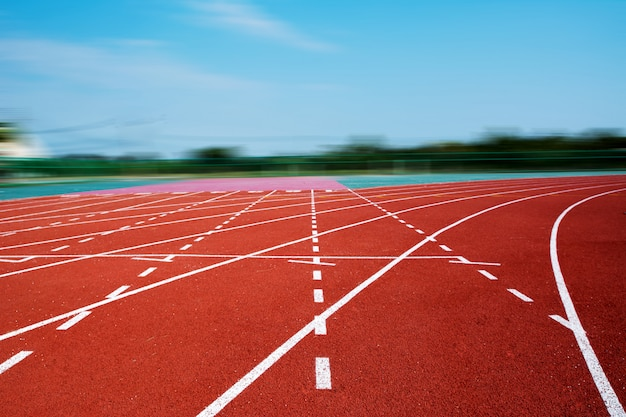 Laufstrecke für die athleten, athletenbahn oder laufstrecke
