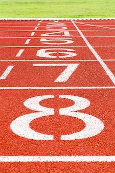 Laufstrecke für leichtathletik und sport