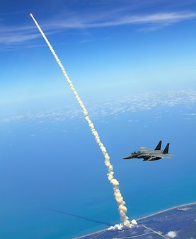 Launch rocket shuttle atlantis startfeld