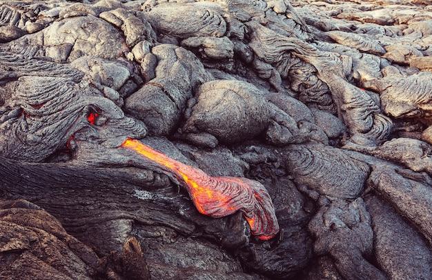 Lavastrom auf big island, hawaii