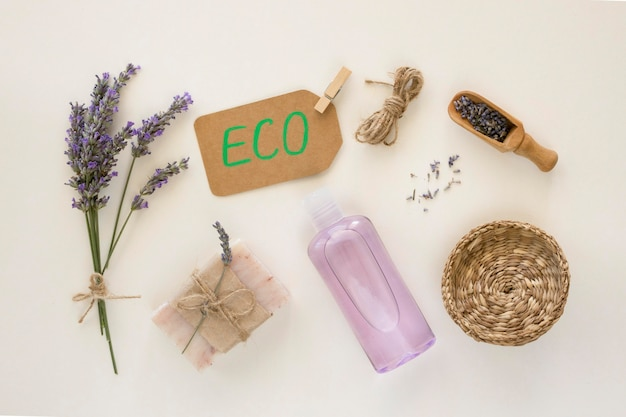 Lavendel beauty und health spa konzept